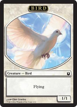 Bird Token - White (Born of the Gods)