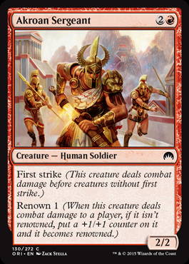 Akroan Sergeant (FOIL)