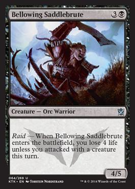 Bellowing Saddlebrute (FOIL)
