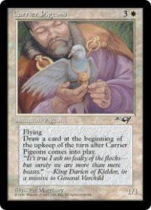 Carrier Pigeons (Man and Bird)