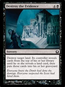 Destroy the Evidence (FOIL)