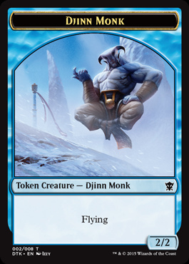 Djinn Monk Token - Dragons of Tarkir