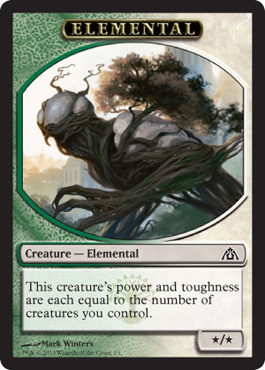 Elemental token (Dragon's Maze)