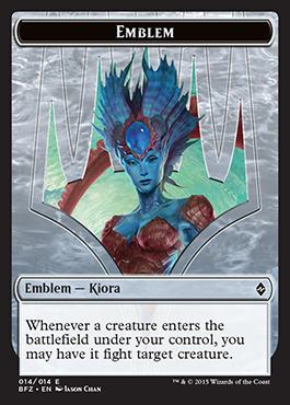 Emblem (Kiora, Master of the Depths) - Battle for Zendikar