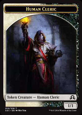 Human Cleric Token - Shadows Over Innistrad