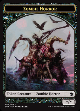 Zombie Horror Token - Dragons of Tarkir