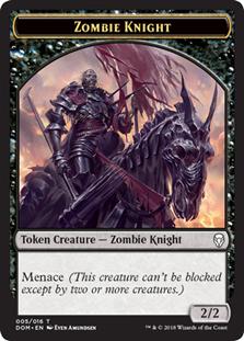 Zombie Knight Token (Dominaria)