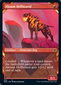Akoum Hellhound (Showcase) (FOIL)